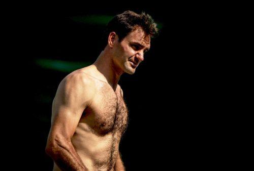 roger federer shirtless 3